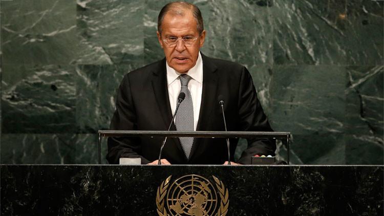 """Lavrov en la ONU: """"En el siglo XXI es indecente adoctrinar y acabar con millones de vidas"""""""