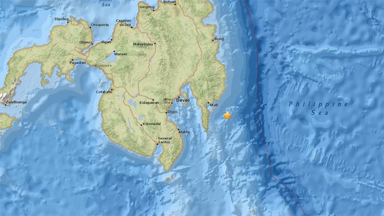 Un sismo de magnitud 6,5 sacude las costas de Filipinas
