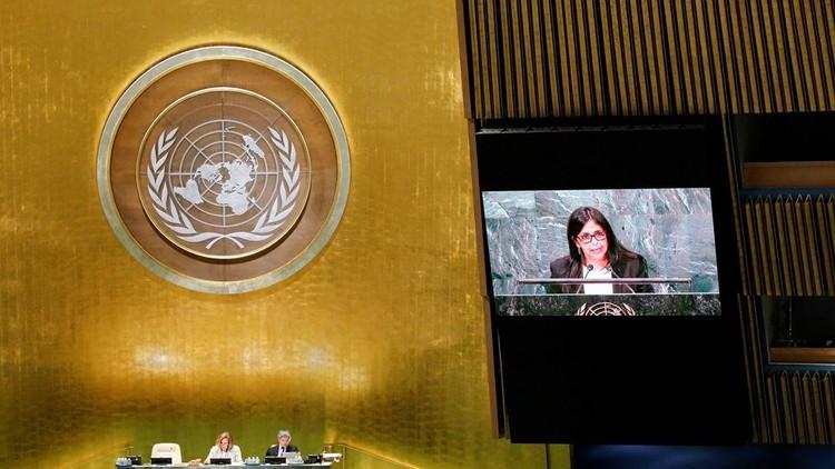 """Canciller venezolana ante la ONU: """"Venezuela ha sido escogida como un nuevo objetivo imperial"""""""