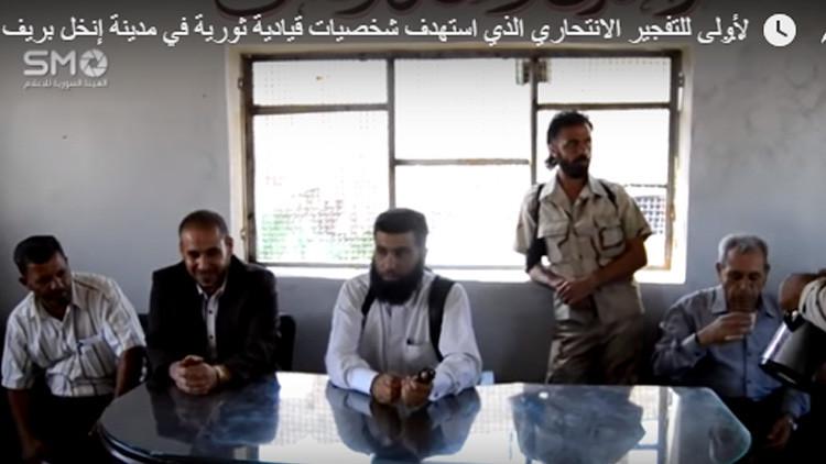 VIDEO: El momento exacto de un atentado contra líderes de la oposición siria en su sede