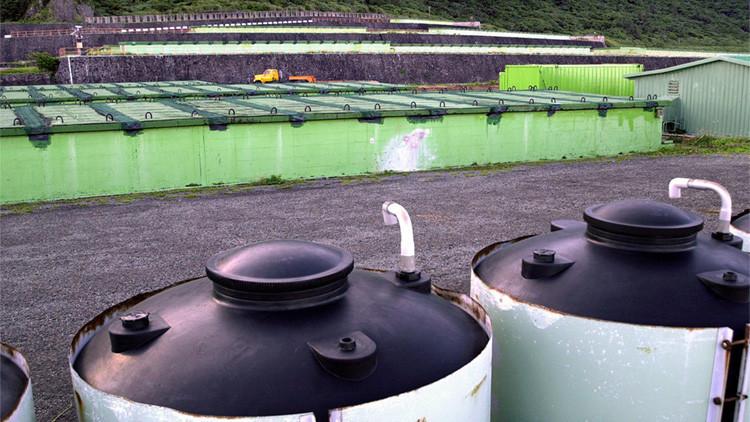 El almacén de residuos radioactivos Lanyu, la isla de las Orquídeas, Taiwán, China.
