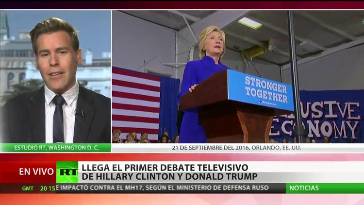 Llega el primer debate presidencial televisivo entre Clinton y Trump