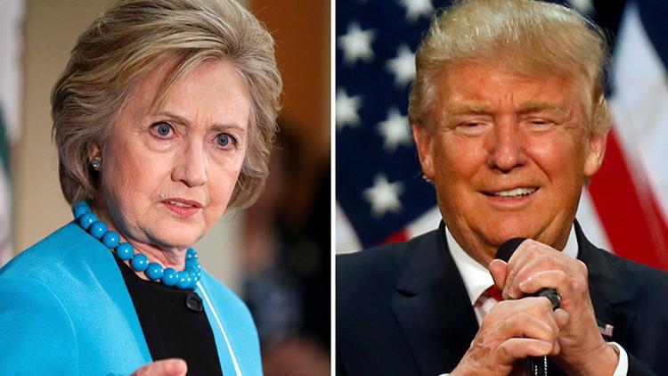 Clinton y Trump: Los candidatos más impopulares de la historia apuestan todo a los indecisos
