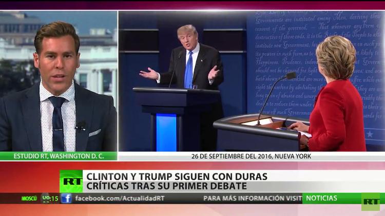 Donald Trump y Hillary Clinton retoman sus campañas electorales tras el debate