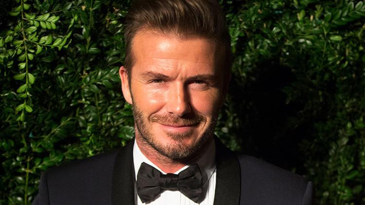 El futbolista David Beckham