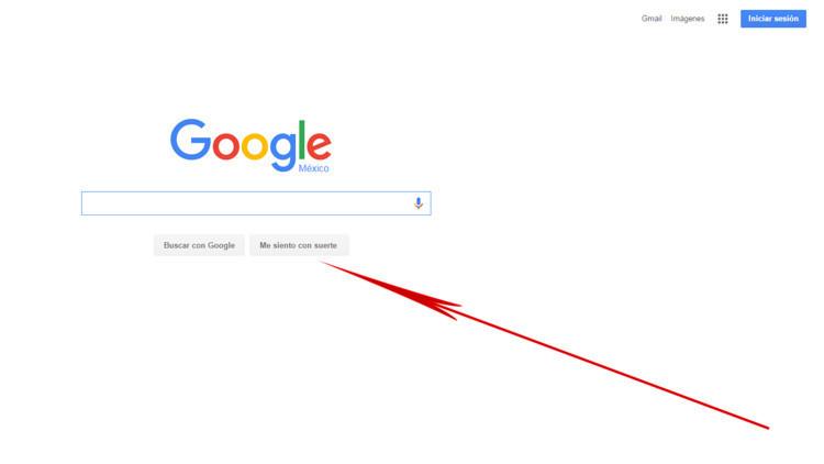 No todo el mundo lo sabe: ¿Cuál es la función del botón 'Me siento con suerte' de Google?