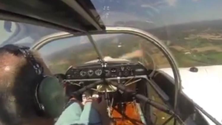 Video: Una avioneta pierde su hélice en pleno vuelo y esto es lo que pasa
