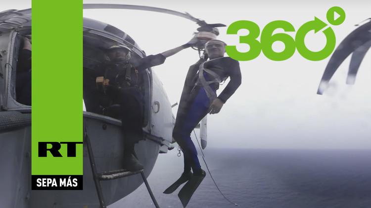 'Participe' en las maniobras navales de Rusia y China con este impresionante video en 360º