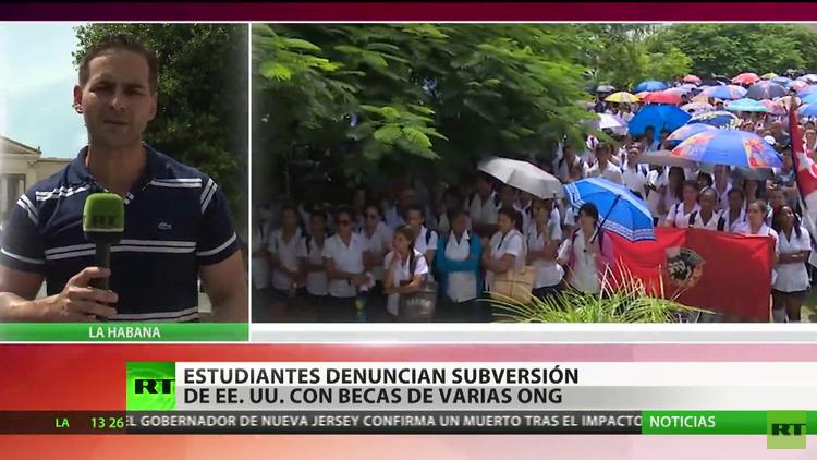 Estudiantes cubanos denuncian subversión de EE.UU. con becas de ONG