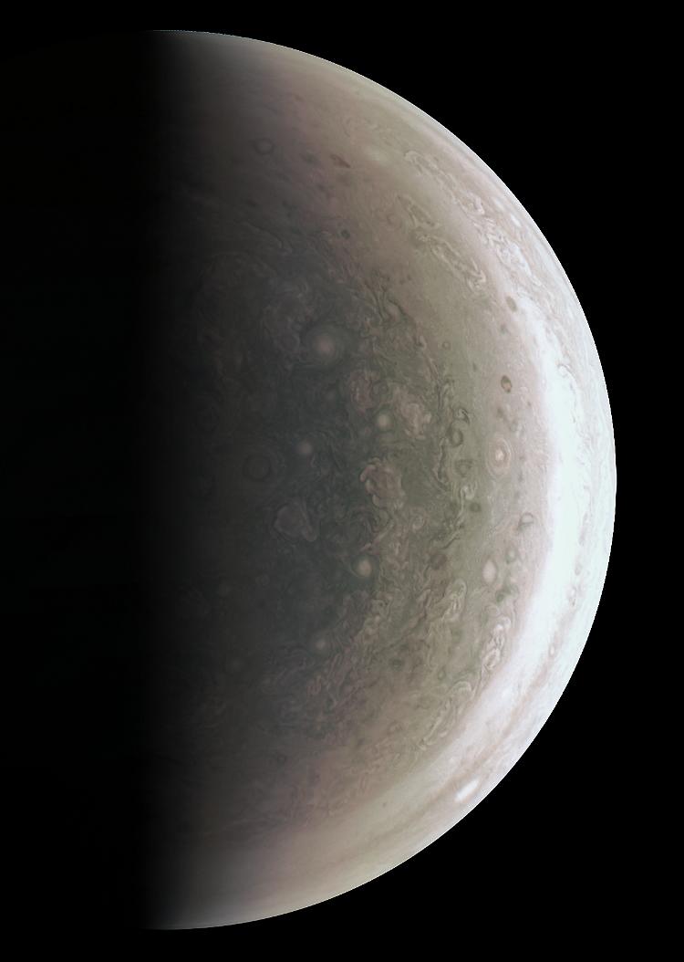El polo sur de Júpiter