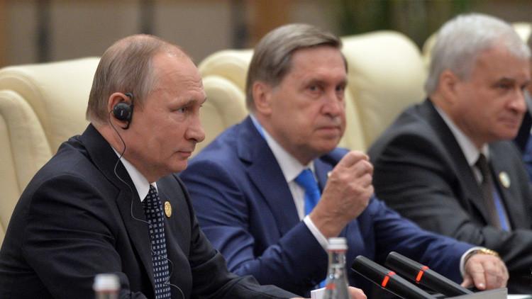 Vladímir Putin en la cumbre de G-20.