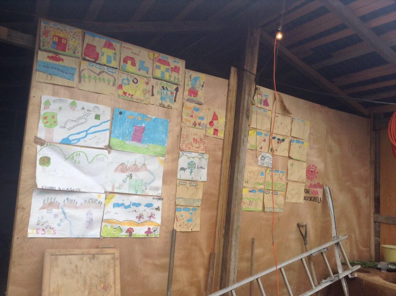 Dibujos de niños de Xochicuautla