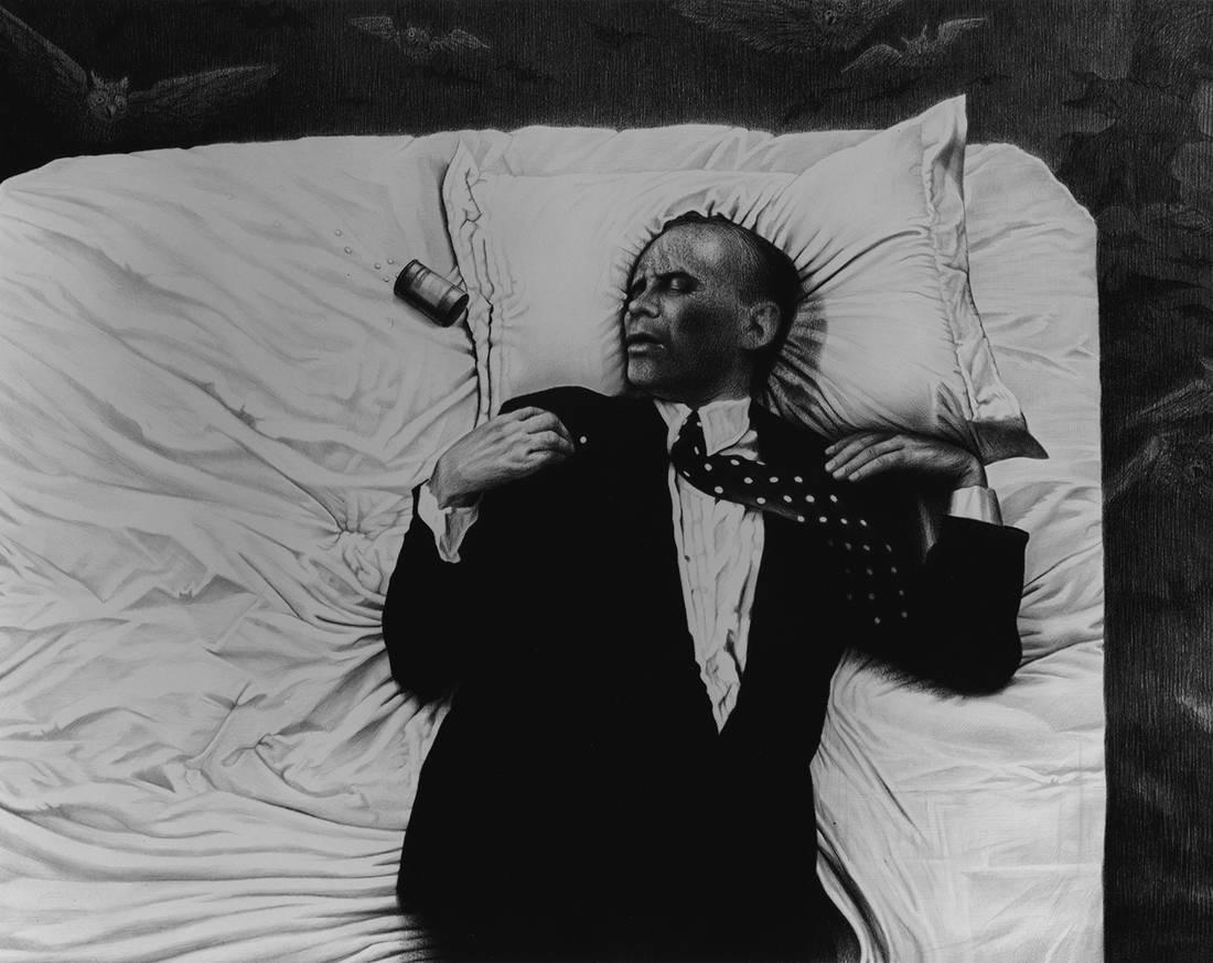 """Laurie Lipton, lápiz, dibujo, 'The Sleep of Reason 2003' ('El sueño de la razón 2003'), carboncillo y lápiz sobre papel, 72.3x98.3cm / 28.5""""x38.7"""""""