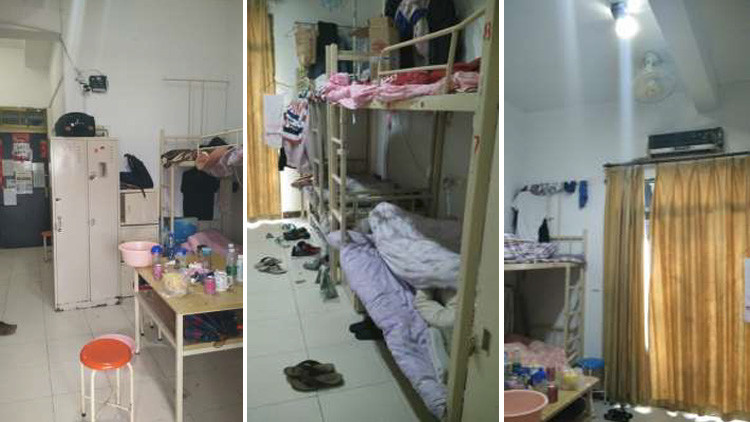 Dormitorios de los trabajadores de Pegatron, fábrica china de producción de iPhones