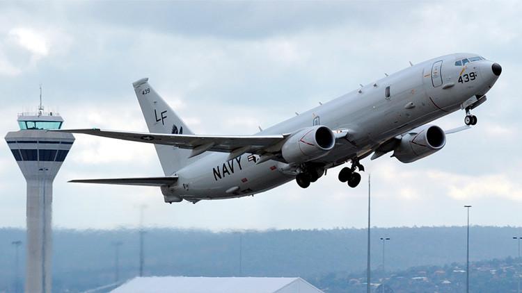 Un avión espía P-8 Poseidon de la Armada de EE.UU.