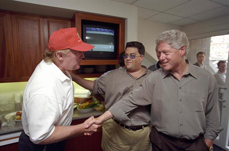 Revelan fotos inéditas que muestran a Donald Trump y Bill ...
