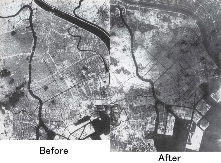 Tokio antes y después de un ataque