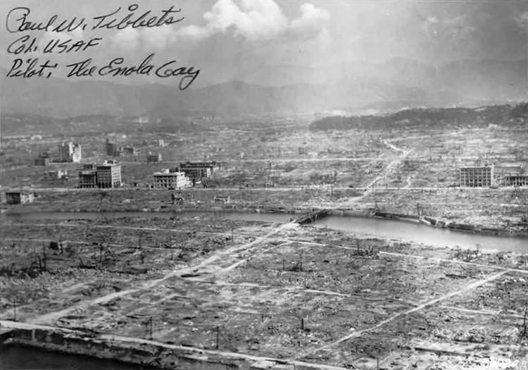 Hiroshima después del ataque nuclear