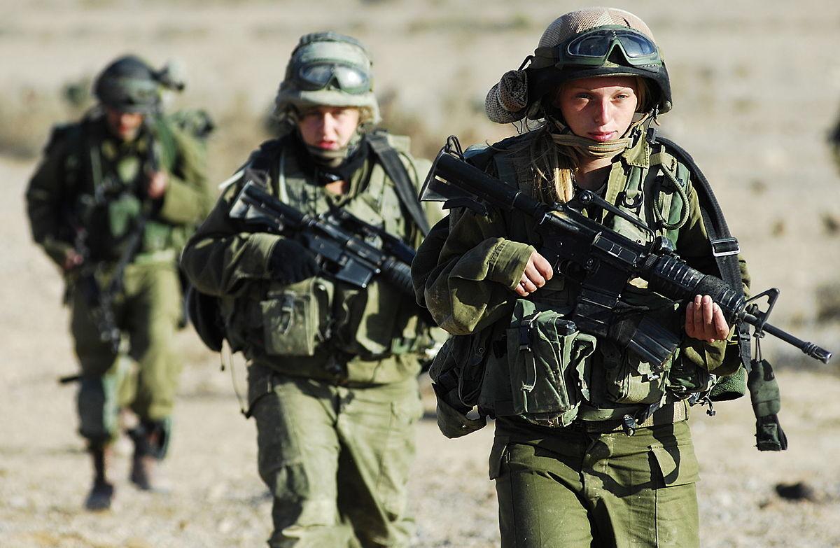 Sesión de entrenamiento del Batallón Karakal. Unidad mixta de combate. Judíos y árabes combatiendo juntos.