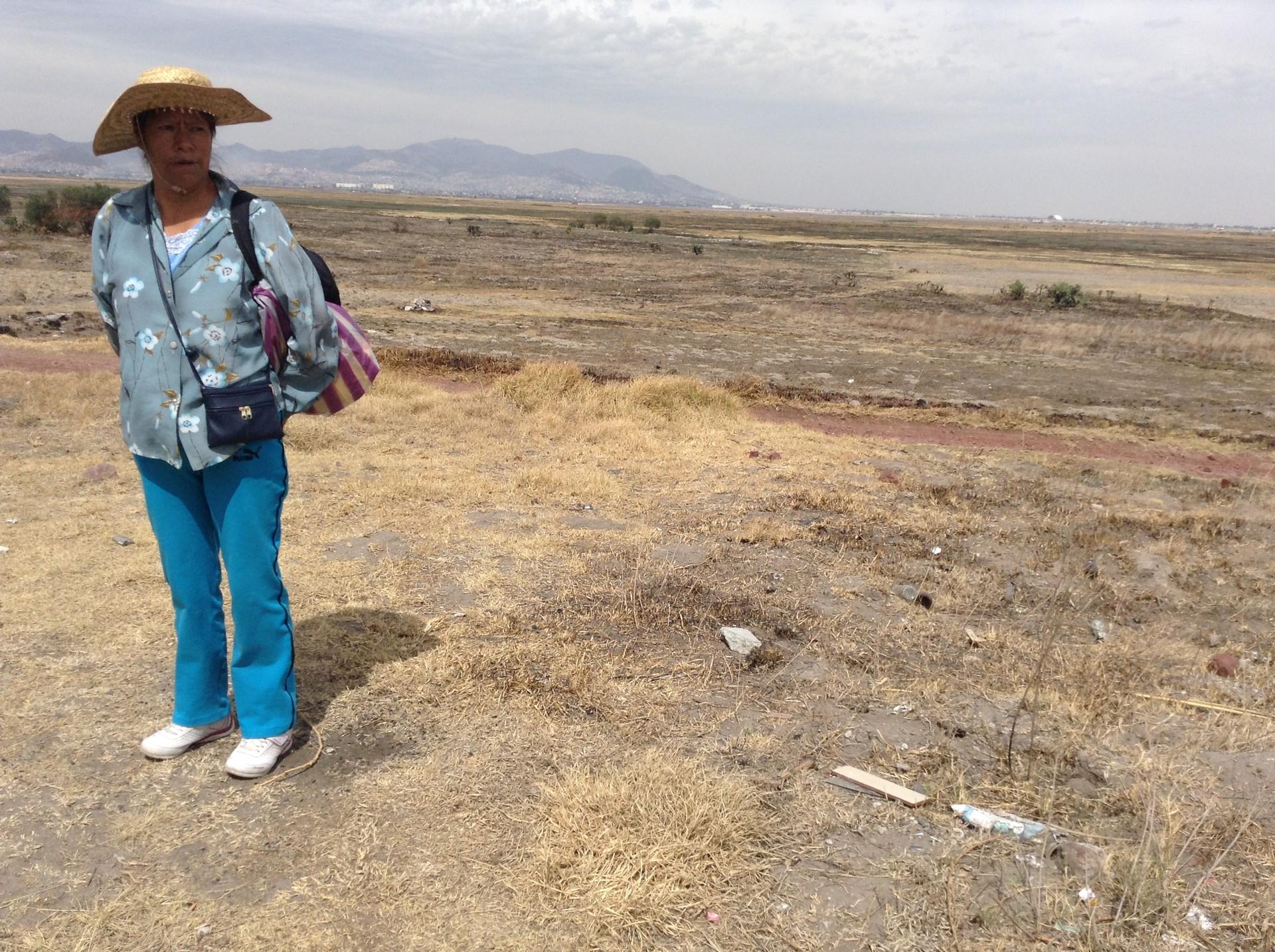 Campesina de los pueblos que colindaban con el Lago de Texcoco.