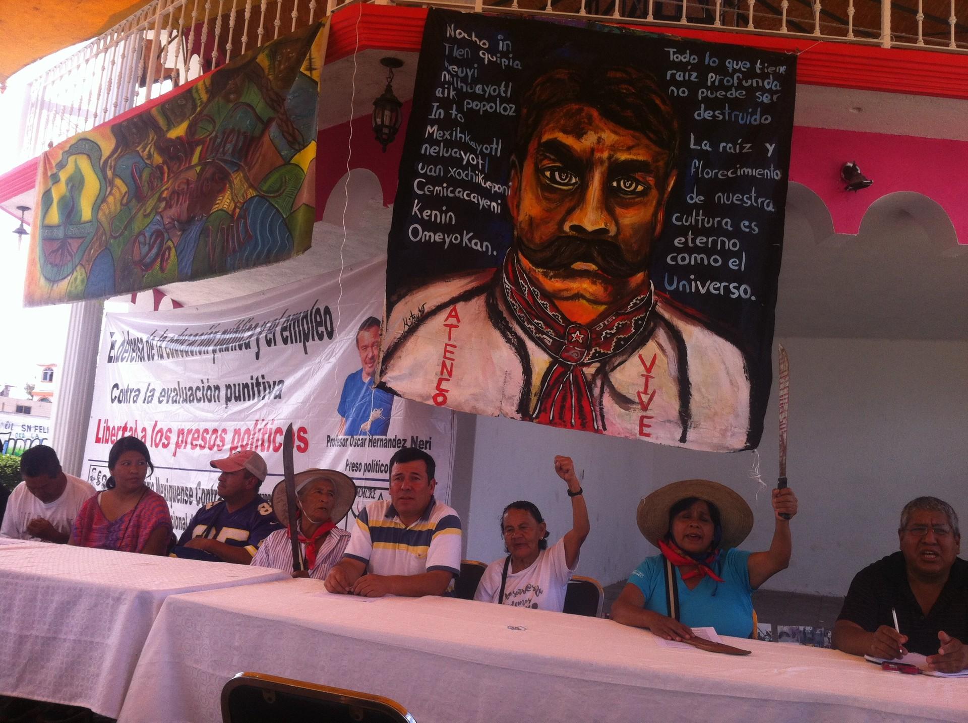 Reunión en Tocuila de ambientalistas y comunidades campesinas del estado de México.