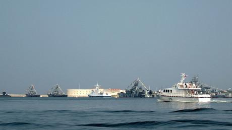 La base naval rusa de Sebastopol en el mar Negro