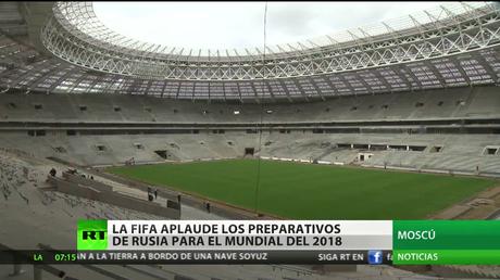La FIFA se muestra conforme con los preparativos de Rusia para el Mundial de Fútbol de 2018
