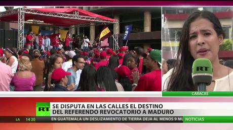 Venezuela: Manifestaciones a favor y en contra de un referendo revocatorio contra Maduro