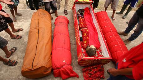 El festival de Ma'nene celebrado en la provincia indonesia Célebes Meridional el 23 de agosto de 2012.