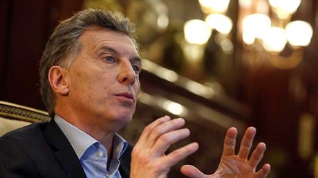 Mauricio Macri, el presidente de Argentina.