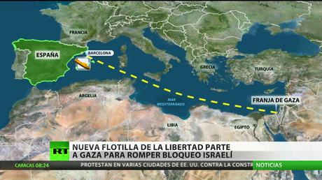 Nueva flotilla de la libertad parte a Gaza para romper el bloqueo israelí