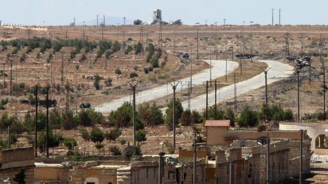 Vista general de la carretera Castello en Alepo, el 16 de septiembre, 2016
