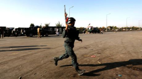 Un policía en Afganistán.