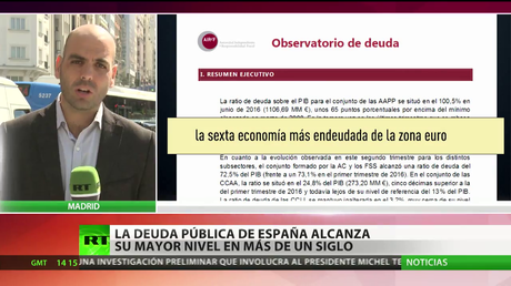 La deuda pública de España alcanza su mayor nivel en más de un siglo