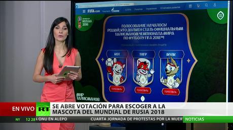 Arranca la votación para escoger a la mascota del mundial de fútbol de Rusia en 2018
