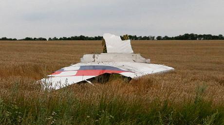 Un fragmento del Boeing-777 caido en el este de Ucrania