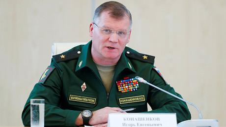 El portavoz del Ministerio de Defensa de Rusia, Ígor Konashénkov