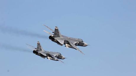 Aviones rusos surcan el cielo de Siria