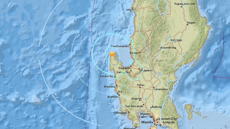 Un sismo de magnitud 5,7 sacude las costas de Filipinas