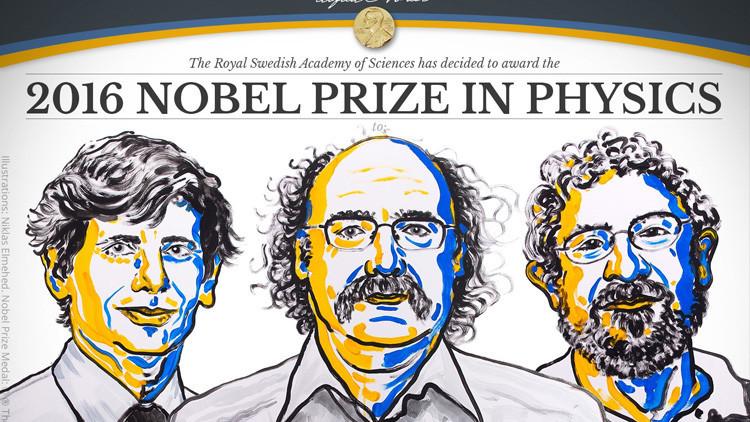 Tres físicos se llevan el premio Nobel por estudiar las fases topológicas de la materia