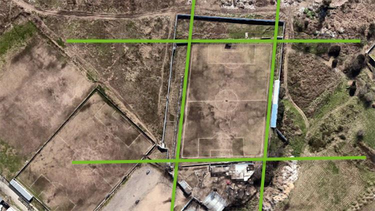 Google Maps revela que un club de fútbol jugó 30 años en una cancha torcida en Argentina