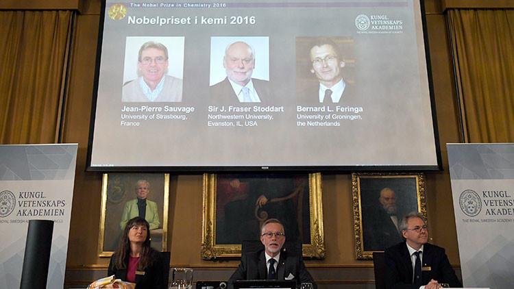 Tres científicos se llevan el premio Nobel de Química por estudiar las máquinas moleculares
