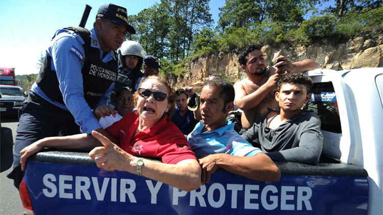 FOTOS: Protestas por el cobro de peajes ponen en aprietos al gobierno de Honduras