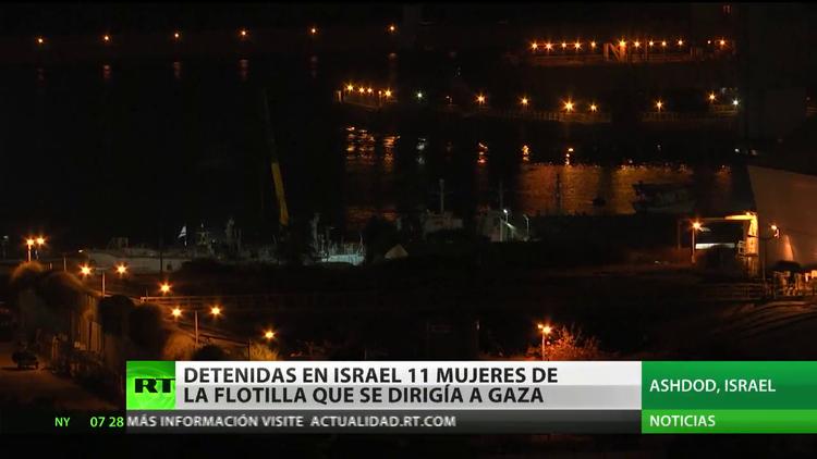 Detienen en Israel a 11 mujeres de la Flotilla de la Libertad que se dirigía a Gaza