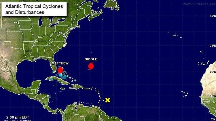 Un segundo huracán se forma al sur de Bermudas, Nicole