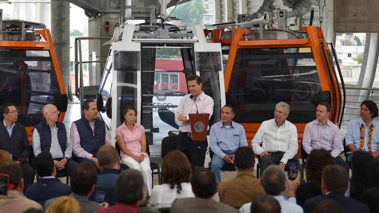 Mexicable: arranca la construcción del primer teleférico de transporte masivo de América Latina