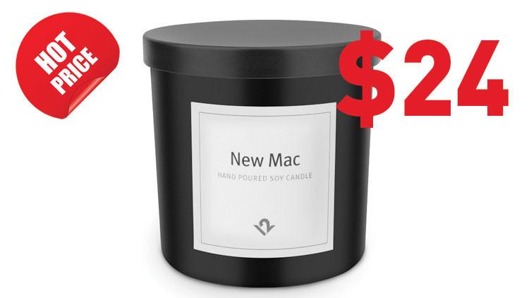 'Pasión por Apple': Crean una vela con aroma a Mac recién desempaquetado