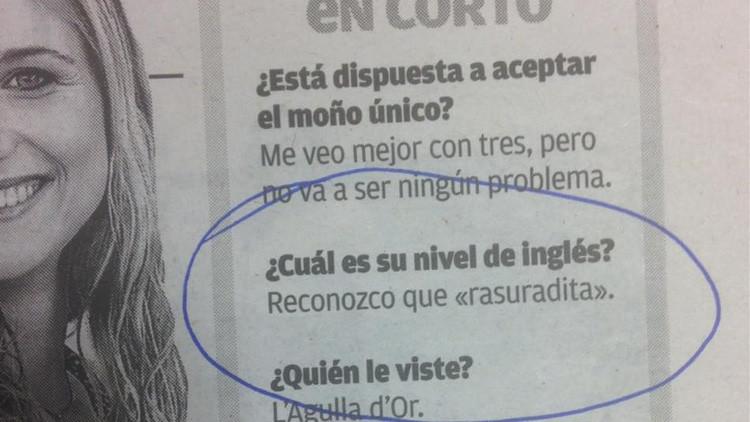 """""""¿Nivel de inglés?"""": La insólita respuesta de una española que arrasa en Internet"""