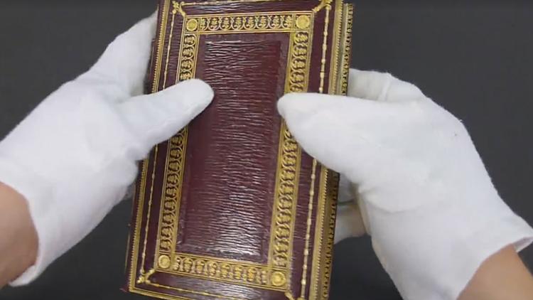 La increíble imagen oculta en un antiguo libro