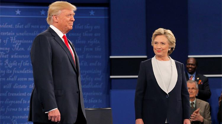 Clinton y Trump enseñan los dientes en un segundo debate lleno de tensión